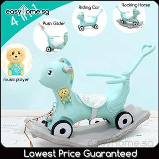 🚚 4 in 1 Push Ride Rocking Horse ( 2 Colors)