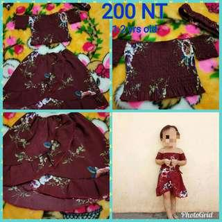Very cute summer outfit for 1-2 years old