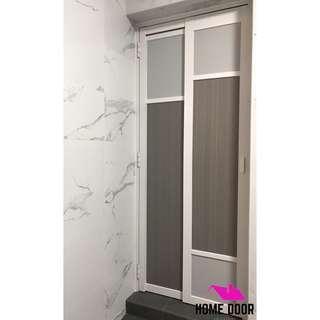 Slide Swing Toilet Door for HDB & BTO