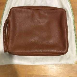 Longchamp Clutch in Calf Leather Authentic