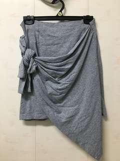 🚚 顯瘦綁帶棉質短裙