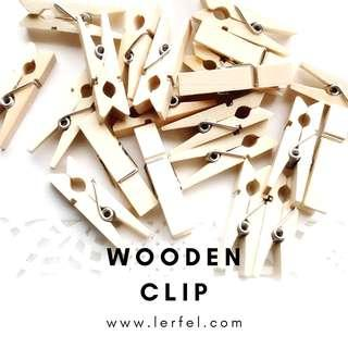 Wooden clips - 50 pieces (To hang photos / decorations / proposal props / use for party backdrop)
