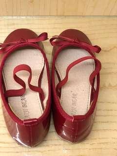🚚 女童紅色芭蕾舞鞋 含運