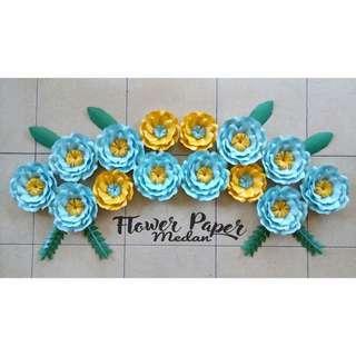 Paper flowerbunga kertas dekorasi acara