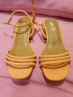 Rubi Papaya Orange Block Heels #Dec50