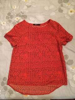 G2000 orange dotted red top