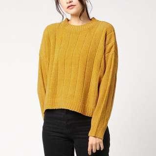 ✨HIT!限時價~日本18柔軟雪尼爾毛衣 冷衫