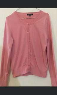 Pink cardigan