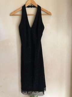STUNNING EMBELLISHED LITTLE BLACK DRESS