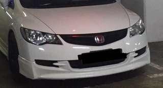 Honda Civic fd Front bumper with mugen front lip