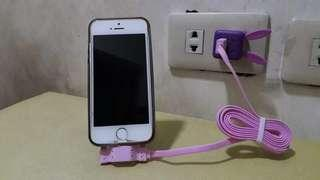 iPhone charger with stand