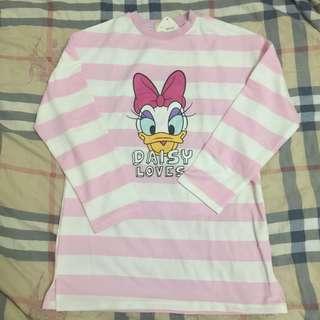 🚚 粉色條紋上衣(八分袖)