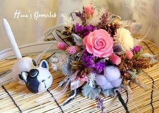 Flower Bouquet (Preserved Flower & Dried Flower)