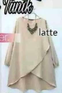 Baju cream moca blouse