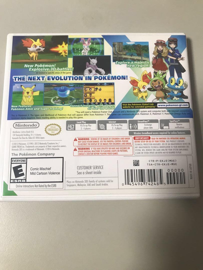 3DS Pokemon X - Nintendo 3DS