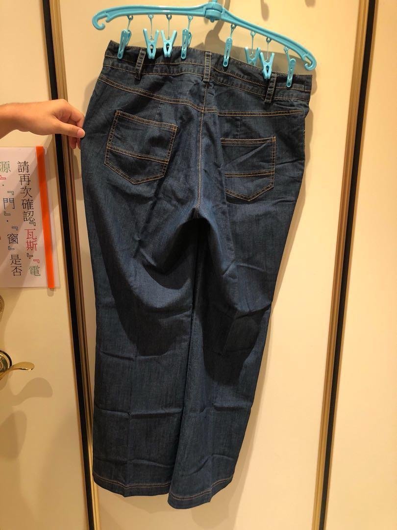 夏日輕薄牛仔直統褲