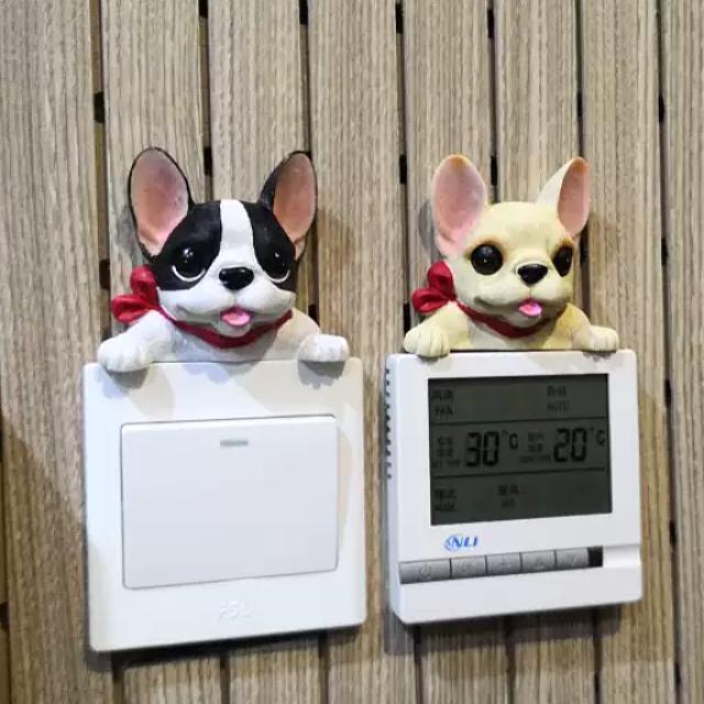 全新 立體狗狗燈掣裝飾 電掣框 Room Switch Decor Frame
