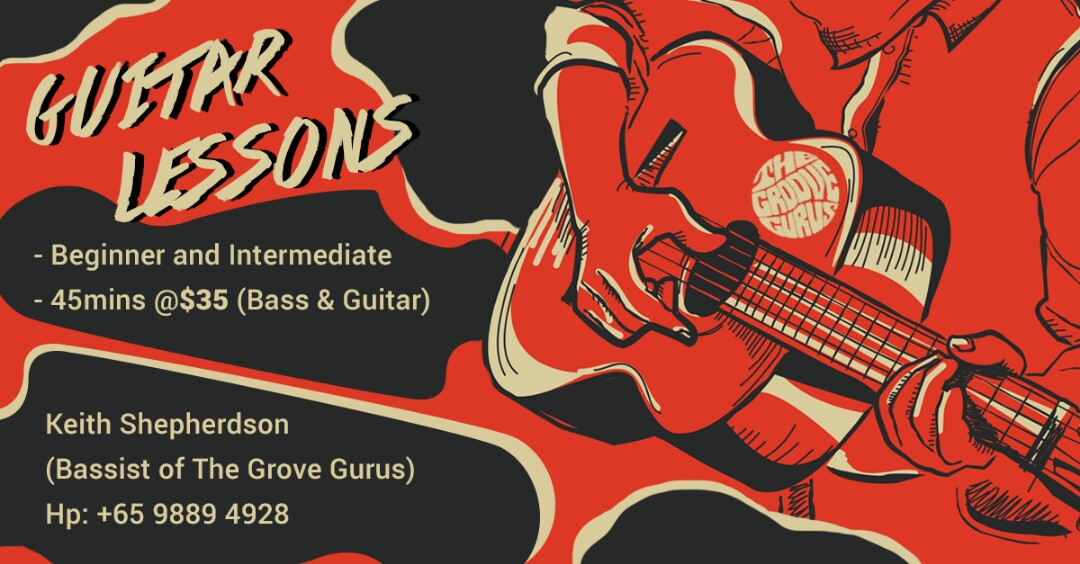 Guitar and Bass lessons $35 for 45mins