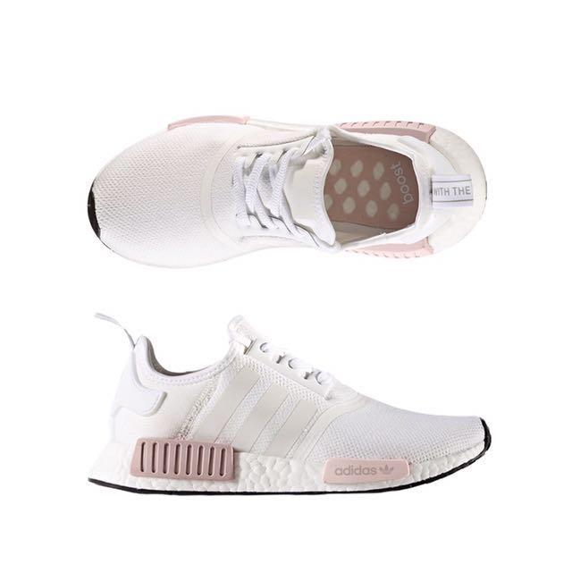 6155eae7c Adidas NMD R1 White Pink (BNIB)