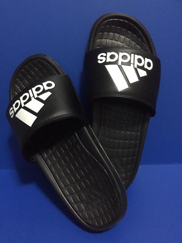 ab2ccdb19b16 Adidas Voloomix Slides Black White