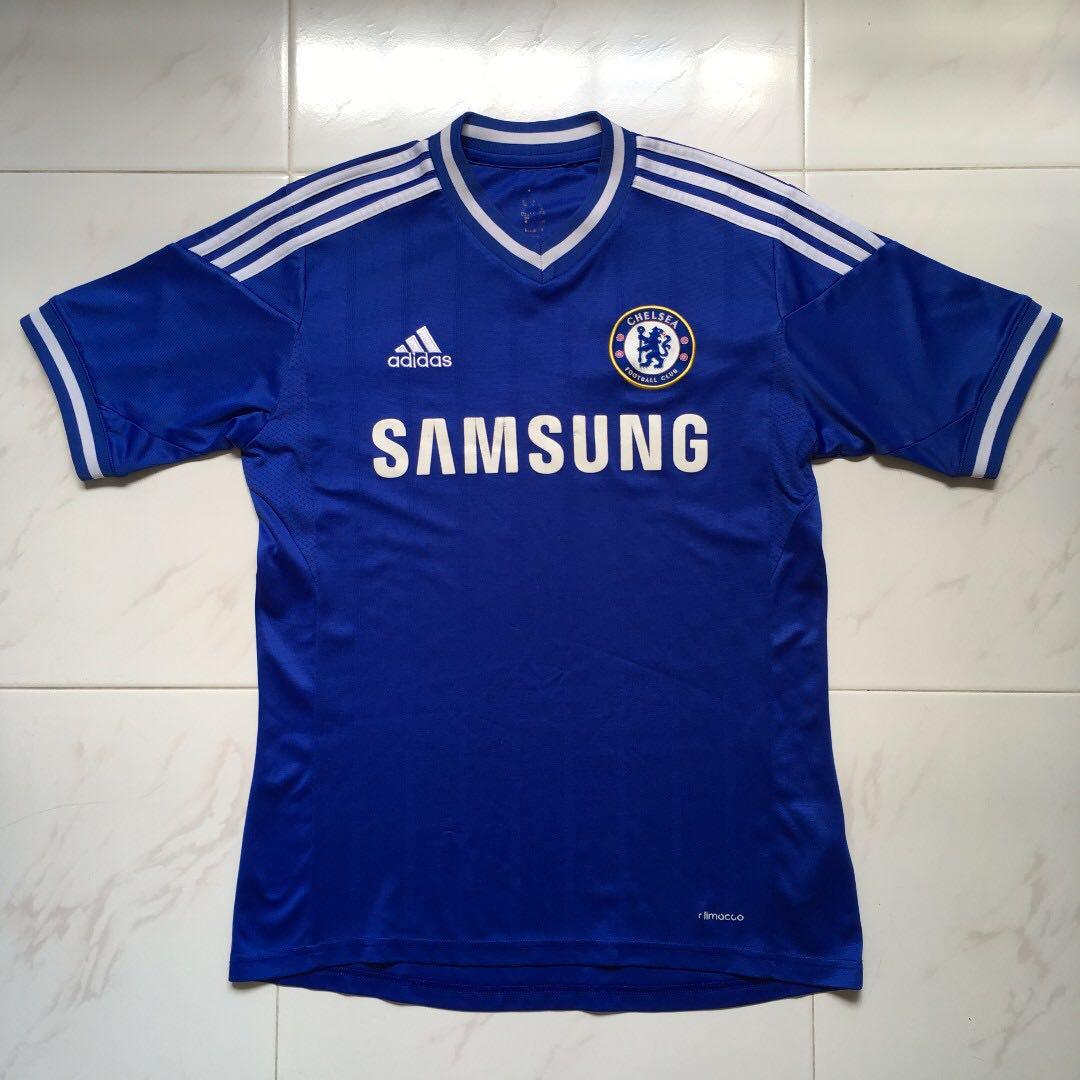 81a3c8bcc3c Adidas/Chelsea/Samsung: V-Neck Soccer/Football Jersey (Blue), Sports ...