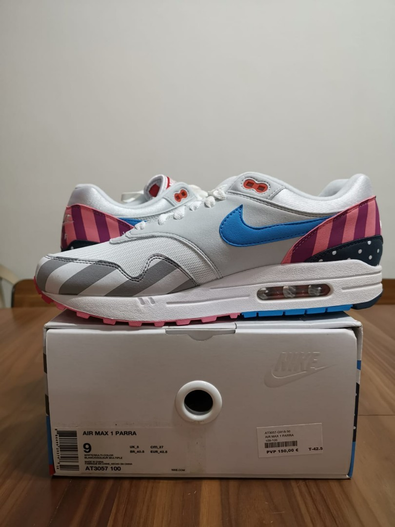 527a4353dc Air Max 1 Parra, Men's Fashion, Footwear, Sneakers on Carousell