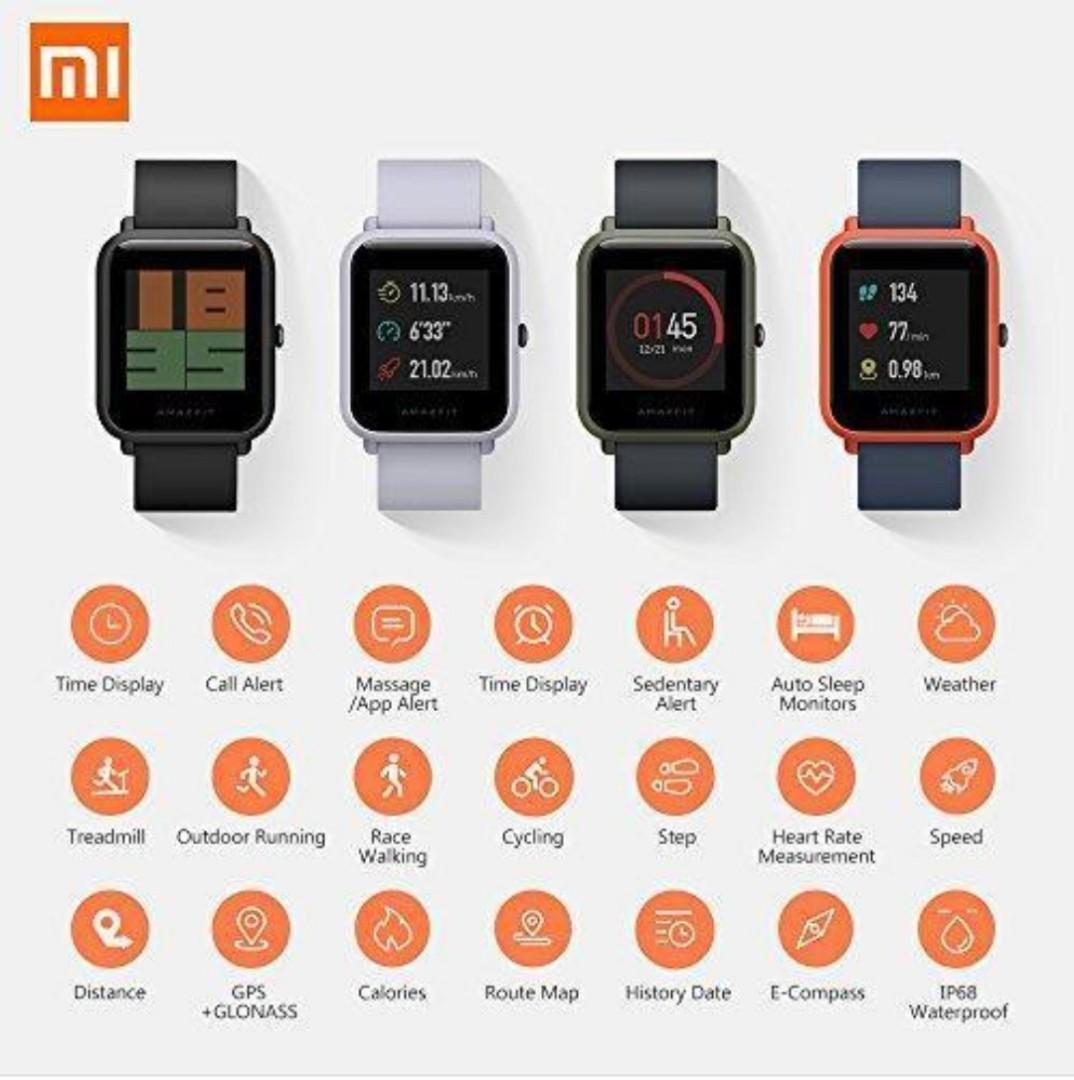 Xiaomi AmazFit Smart Watch BIP Lite Black 小米運動手錶 (出口版)