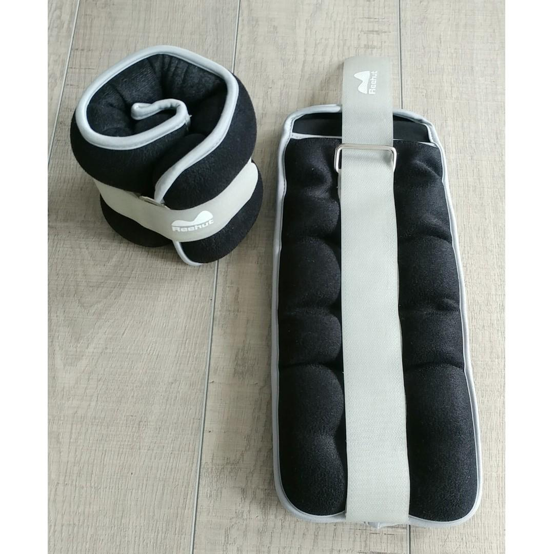 Ankle/Wrist Weights (1 Pair, 5 lbs Each) with Adjustable Strap