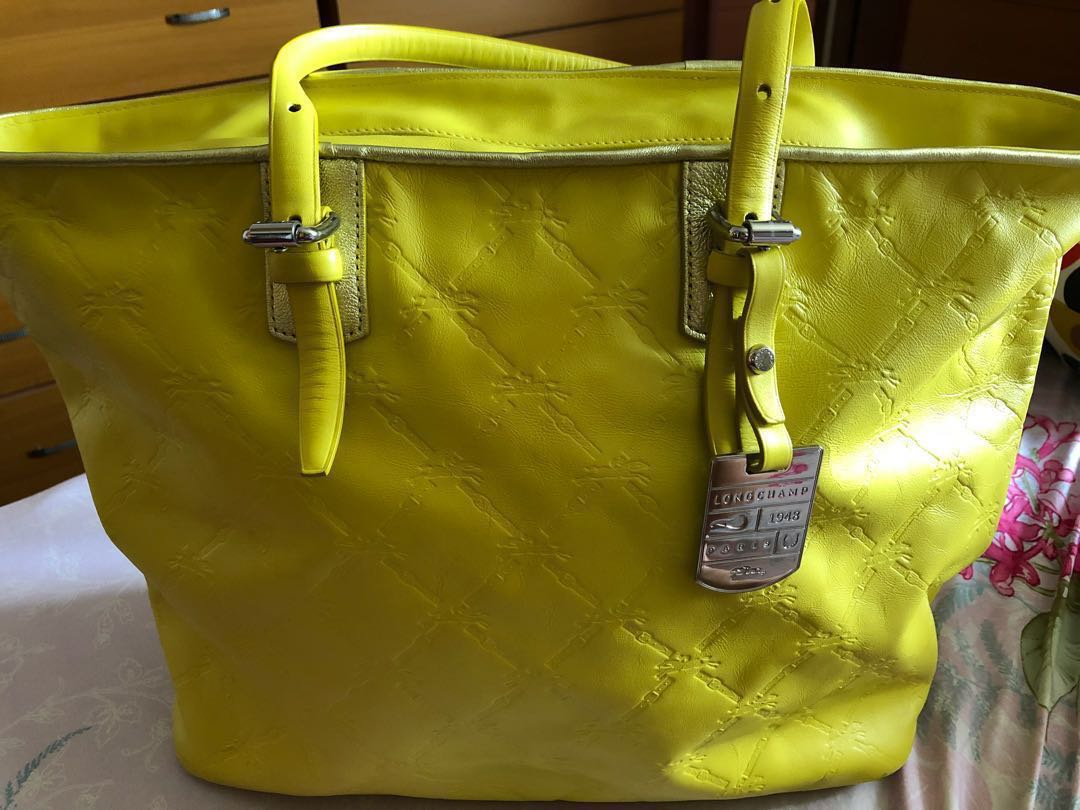 Authentic Longchamp LM Cuir Large Leather Tote For Sale, Women s ... 0254f2134f