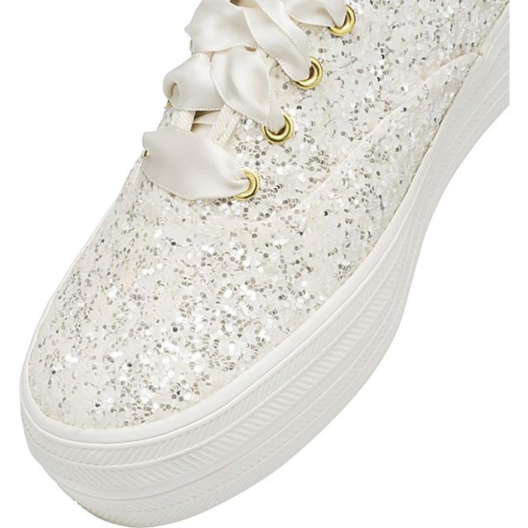 8c49545331cae INSTOCK! Keds x Kate Spade New York Triple Glitter sneakers (CREAM ...