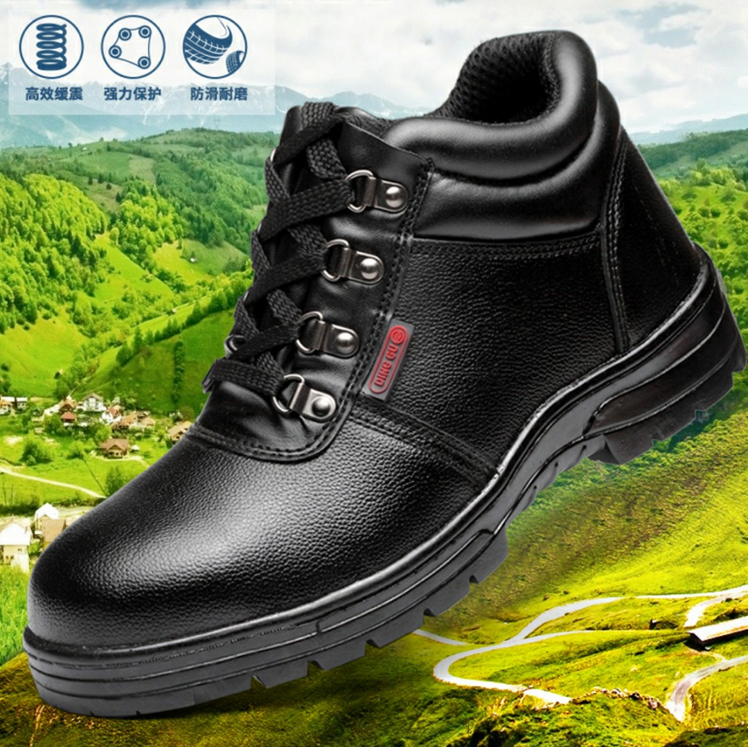 a0eb48d441 BN Black Steel Toe Safety Boots, Men's Fashion, Footwear, Boots on ...