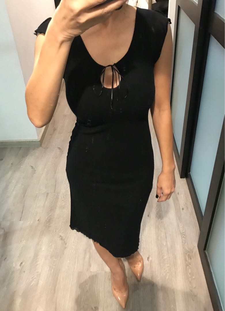 1895e835ad BUY 3 GET 1 FREE   Guess Cotton Black Dress ( S )