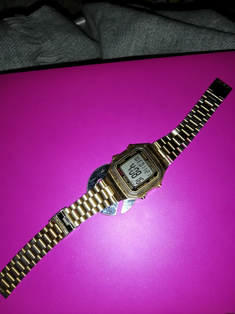 af447086d5b1 Casio Vintage A178WGA-1A Gold Plated Watch For Men and Women