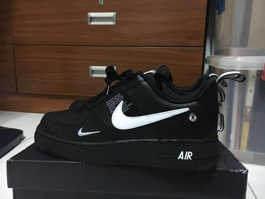 sneakers buying cheap closer at CHEAPEST] US 8.5 Nike Air Force 1 UTILITY BLACK, Men's ...