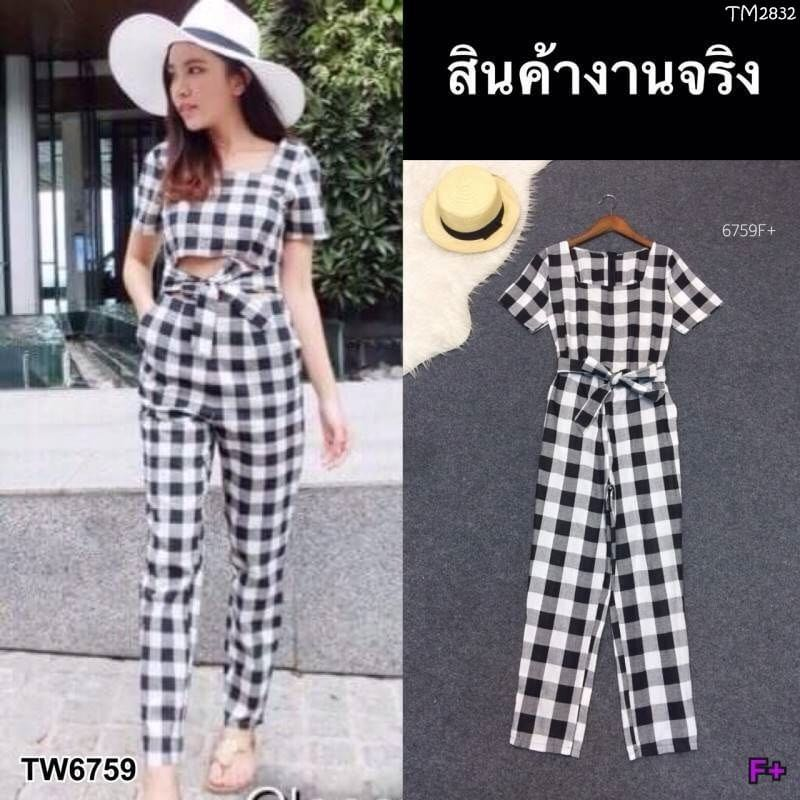 225a84fd6d Checkered Jumpsuit   f