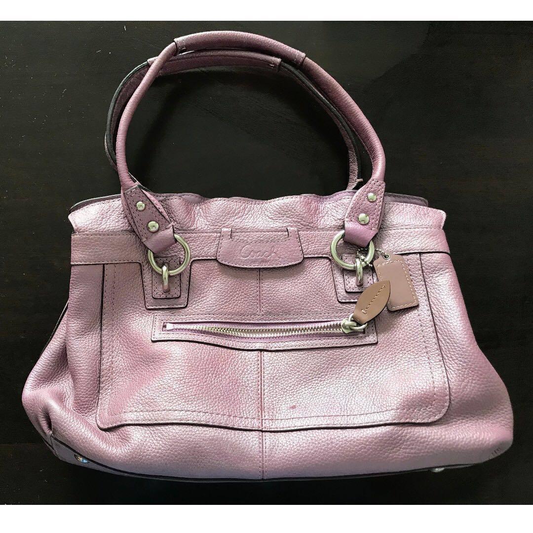 Coach Women's handbag, purple, 100% Authentic