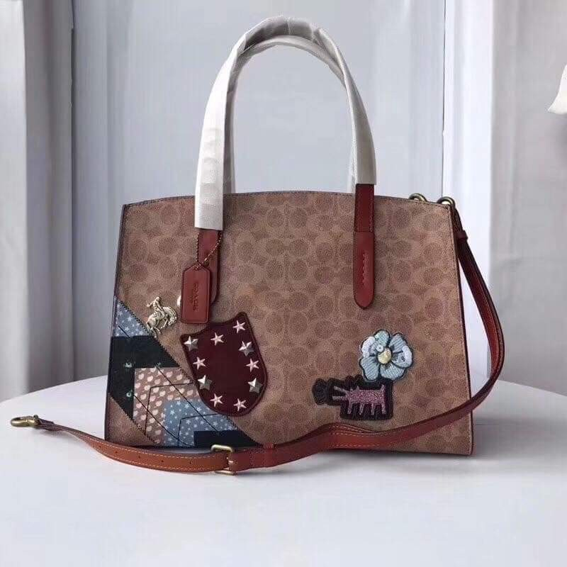 a0b67afb57 Coach X Keith Haring Charlie Carryall In Signature Patchwork