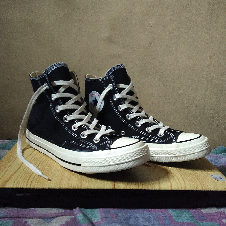 64bdcc86175ad Converse Chuck 70s Classic High Top (Black Egret)