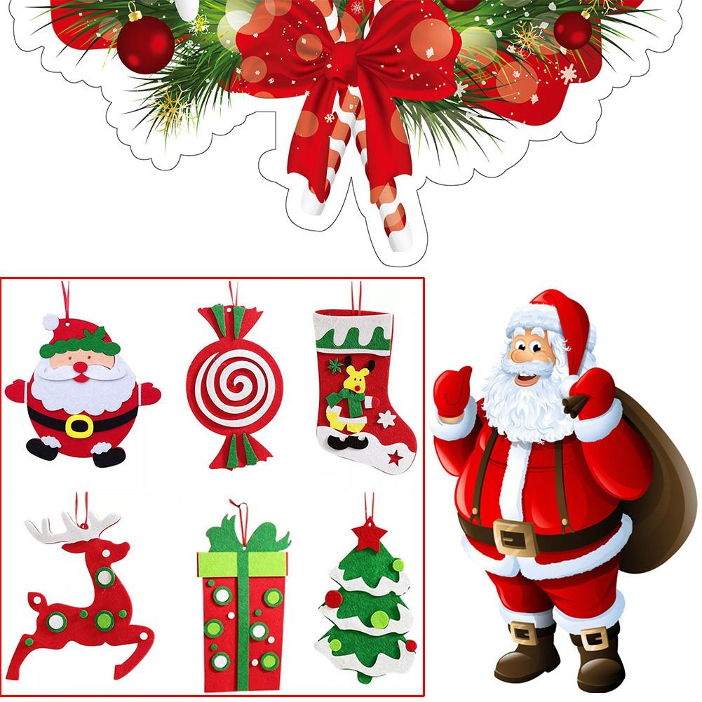 Cute Christmas Tree Xmas Ornament Santa Claus Christmas Stocking Elk