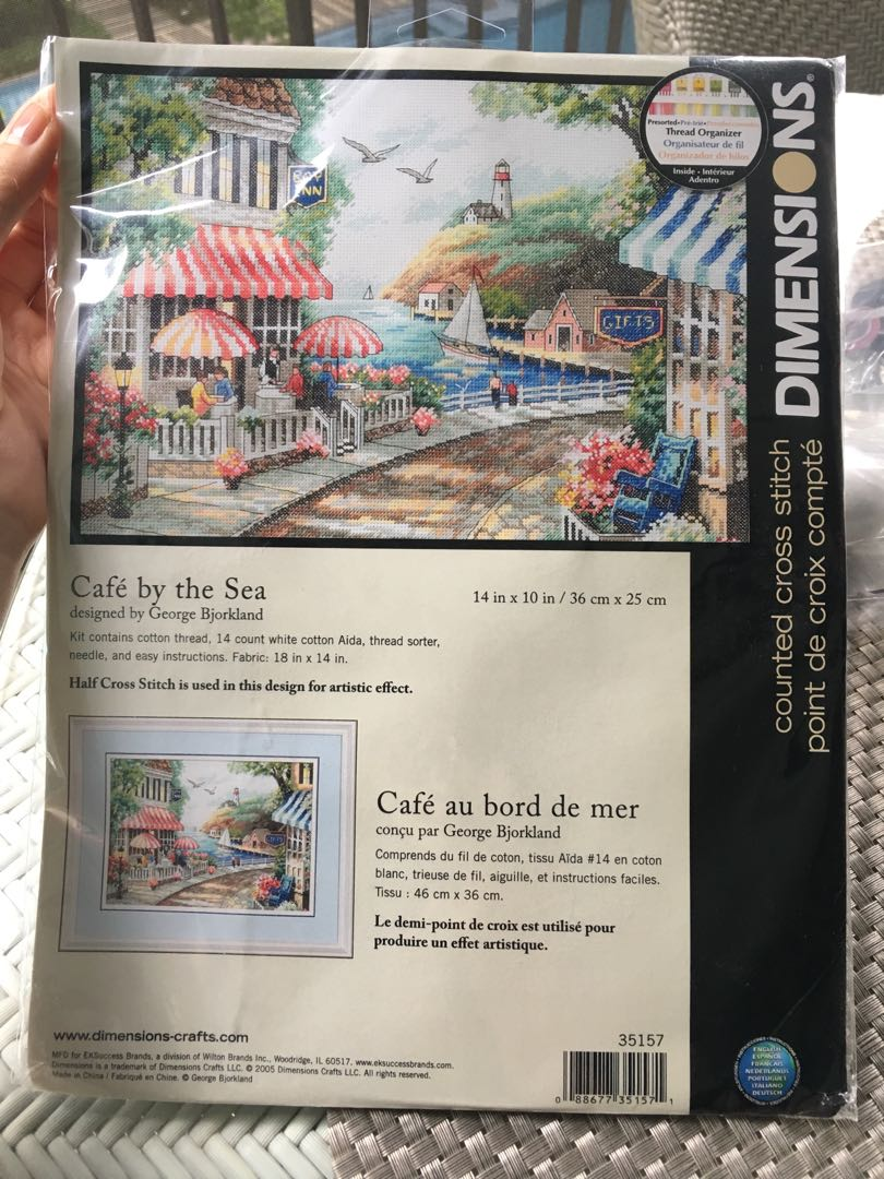 Dimensions cross stitch kit Cafe by the sea