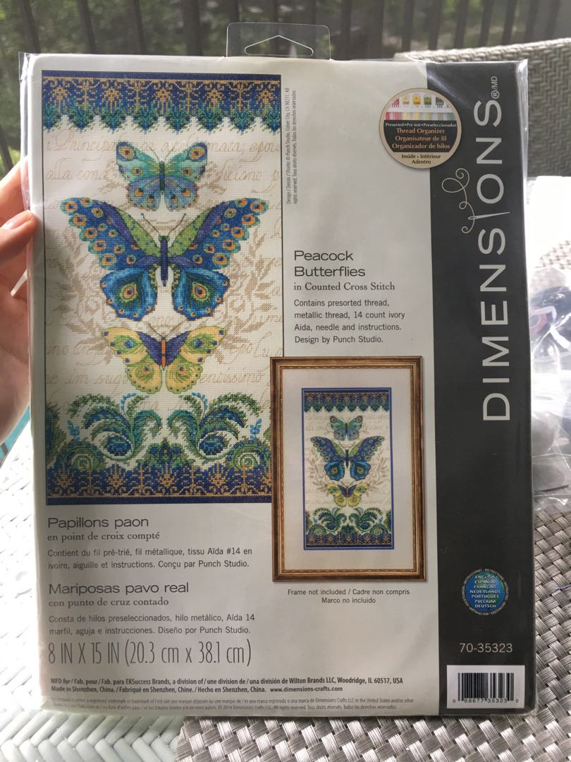 Dimensions cross stitch kit Peacock Butterflies