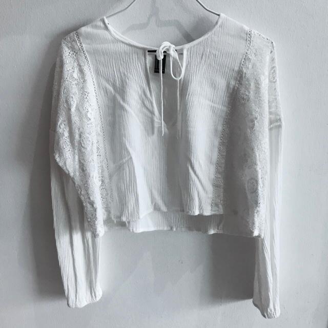 c6b7767211b265 Forever 21 bohemian lace long sleeves flowy top, Women's Fashion ...