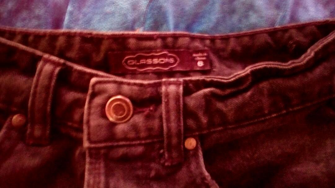 Glassons black acid wash denim mid high rise shorts xs