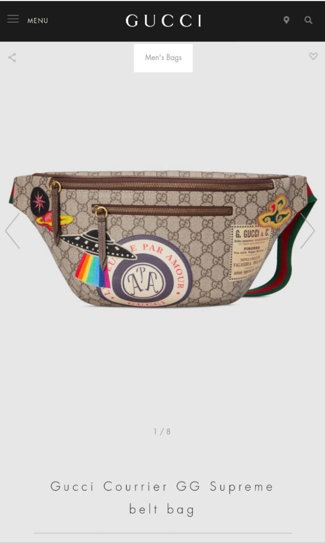 93fa60c8f39 GUCCI Courrier GG Supreme Belt Bag