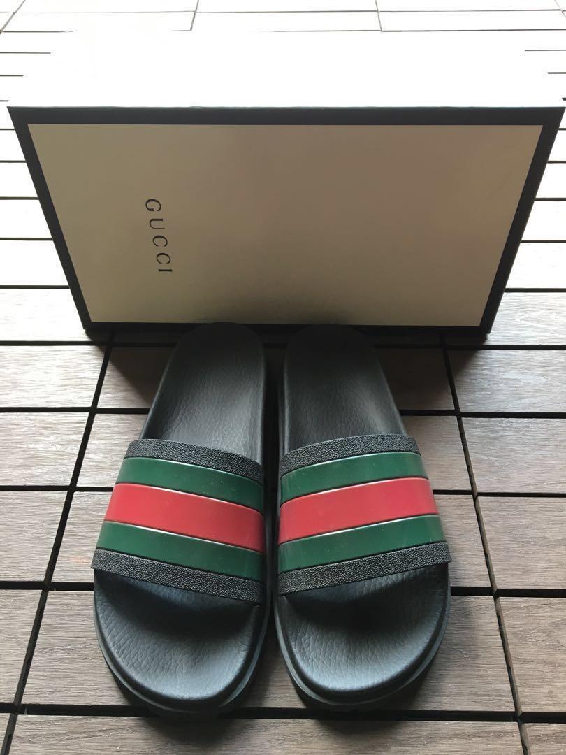 Gucci Slides, Men's Fashion, Footwear