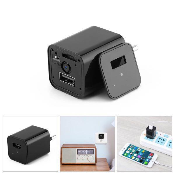 HD 1080P Hidden Camera USB Wall Charger Home Security