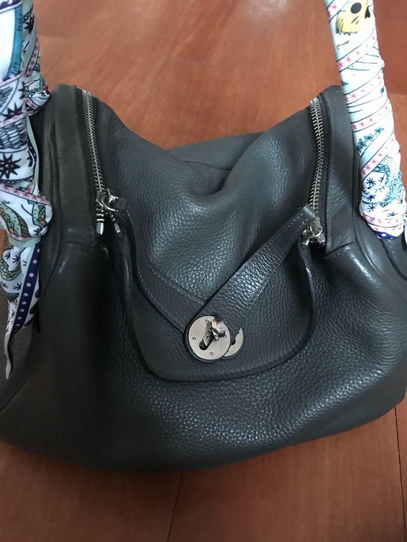 Hermes Lindy 30 gray clemence phw