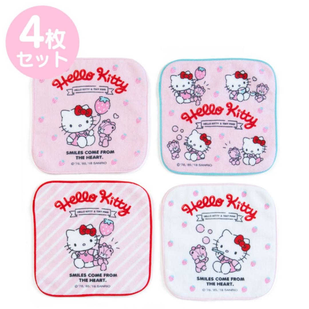 875bf1bd1 Japan Sanrio Hello Kitty Petit Towel 4 Pieces Set (Ichigo), Women's ...