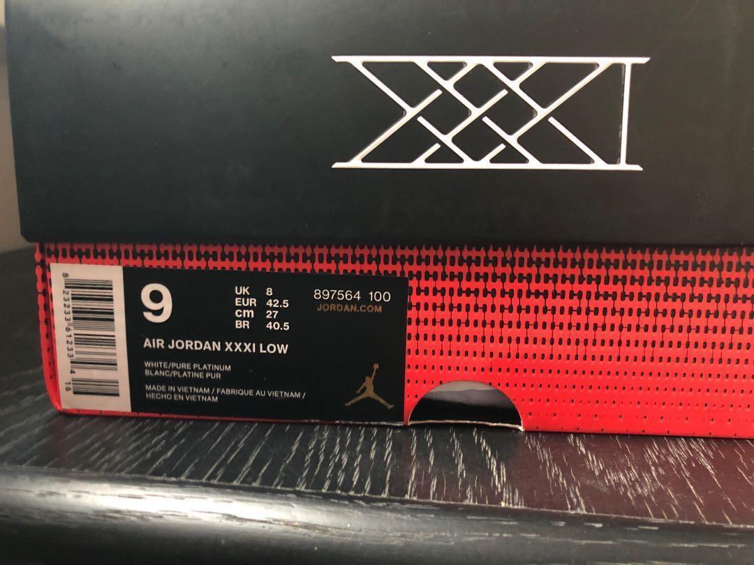 separation shoes fd99c 1cfbf Jordan 31 low pure platinum