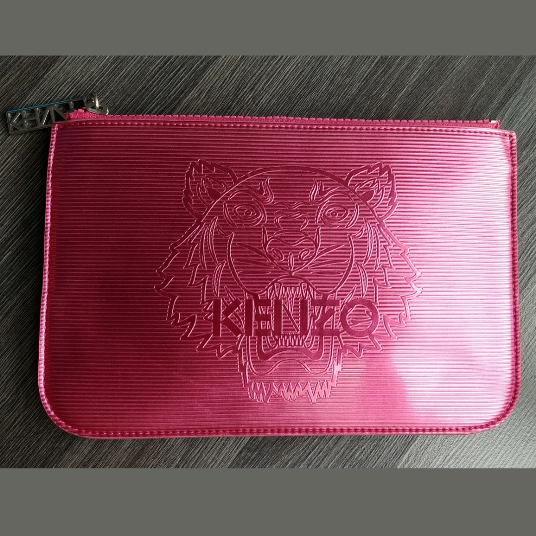708264c60f7 Kenzo Pink Clutch Pouch Case Bag Wallet Lunch Metallic, Luxury, Bags ...